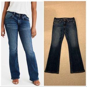 America Eagle kick boot cut jeans sz 8 EUC